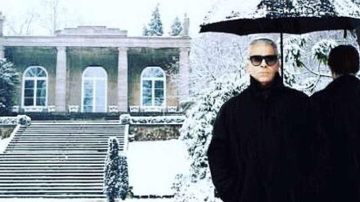 """Karl Lagerfeld: Seine """"Villa Jako"""" in Hamburg sinkt im"""